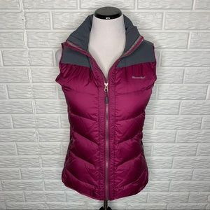MOOSEJAW Down Feather Vest Pink Gray